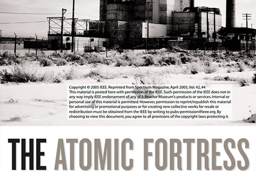 The Atomic Fortress B Reactor
